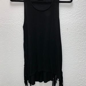 Tank Top with Fringe sides